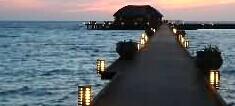 马尔代夫双鱼岛度夕阳