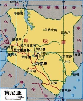 肯尼亚旅游地图