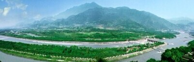 都江堰全景图