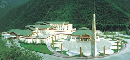 九寨沟喜来登大酒店远眺图2010年