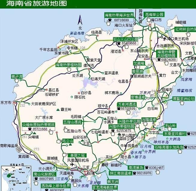 海南三亚旅游地图2010年