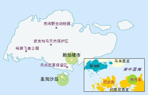 新加坡景点旅游地图指南