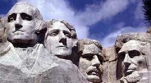 拉什莫尔山国家纪念公园(Mount Rushmore National Memorial),俗称美国总统山、美国总统公园